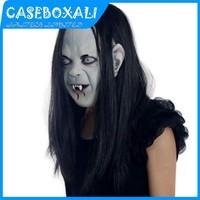 5Pcs/Lot Novelty Prop Artificial Hair Rubber Cap Sadako Horror Mask Halloween Scary Costume Cosplay Party Masquerade Mask