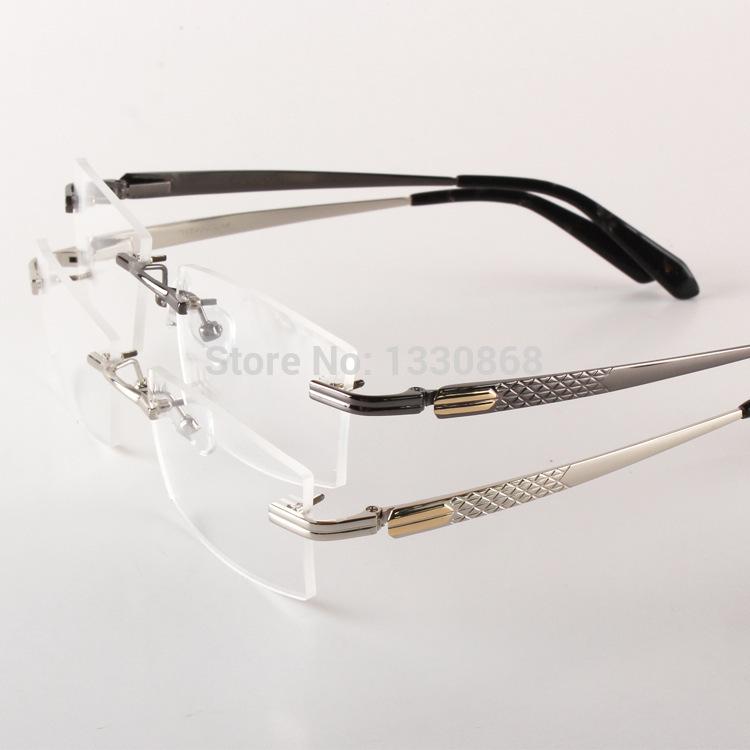 Rimless Glasses High Prescription : Popular Rimless Glasses Men Aliexpress