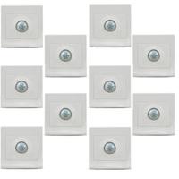 MENGS 10Pcs per pack R-181 PIR Infrared Motion Sensor Light Switch for LED & Low Energy Saving Bulbs
