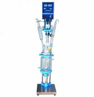 5L Chemical lab Jacketed Glass Reactor Vessel 110V 220V optional digital display Free shipping