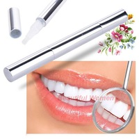 Hot 1 PCS Silvery white Bleach Stain Eraser Teeth Whitening Pen Tooth Gel Whitener Remove Instant Drop/Free Shipping SV008109 3F