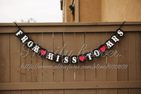 Free Shipping! FROM MISS TO MRS WEDDING RECEPTION BANNER GARLANDS HEN PARTY DECOR