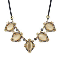 Acessorios Para Mulher Champagne Vintage Elegent Choker Necklace & Oval Pendant Necklace From India