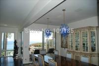 Free Shipping Elegant Hanging Blue Glass Lamp Pendant