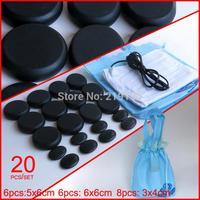 New! 20pcs/set Hot stone SE pendant set Beauty Salon SPA with heater bag