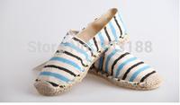 Fashion women  espadrilles , handmade rivet hemp-soled breathable casual canvas shoes, size35-40