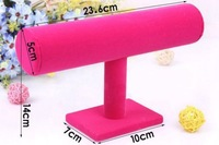 Free Shipping Top Fashion Newest Design Hot Sales Pink Bangle Bracelet Jewelry Watch T-Bar Display Hot Holder Rack