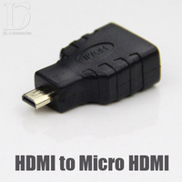 HDMI Female Micro To HDMI Male Convertor For 1080P HDTV LCD Camera PC PS3 Phone High Quality Adapter 2014 Hot Selling 0117