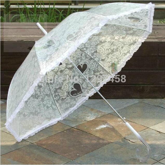 2014 New Fashion White Wedding Umbrella Wedding Parasol Wedding Decoration Bridal Shower Umbrell Photography Props(China (Mainland))