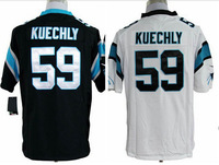 Cheap  Men's Carolina American Football Jerseys Game #59 Luke Kuechly Jersey Team color Home Black Road White Stitched Jersey
