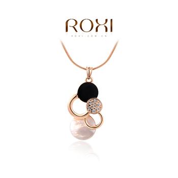 2015 Roxi мода женщин ювелирные изделия высокое качество роуз позолоченные цепи длинный участок высокой текстуры флэш сфер бесплатная для судоходства