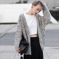 2014 fall fashion long warm sweater with neck women Sleeves Cardigans Coat colete Cardigan feminino tricotado uk Knited Wear New