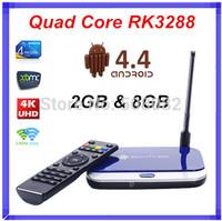 Quad Core RK3288 Android TV Box CS918II 2GB RAM 8GB Smart Media Player Bluetooth Wifi HDMI RJ45 TV Receiver XBMC Android 4.4