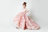 vestido de festa winter little child melissa ballet christmas gift 5years empire train flower girls dress for weddings RTT-0366