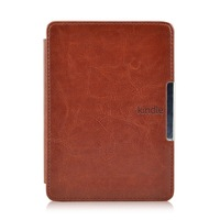 "New smart slim leather cover case PU protective case for 2014 new kindle 6"" 7G touch screen ereader +free stylus+free film"