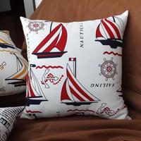 Mediterranean style  brief cotton home and office Sofa Cushion Decorative  Pillowcase Cover Nautical home decor