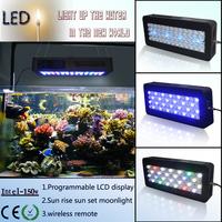 150w Programmable Timer LED Aquarium Light Coral Reef Saltwater Tropical Fish Tank