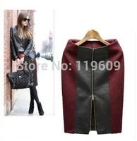 Women Autumn Winter Suit Skirts Fashion European Style Work OL Skirts Ladies Eleagnt Wine Red Winter Skirts Woolen Skirts Black