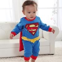 New Baby Boy Halloween Jumpsuit Costume Kids Long Sleeve Superman Romper Clothing Gift SuperHero fantasias de festa Infantis