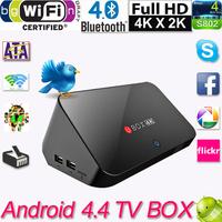 Android 4.4 TV Box Quad Core Mini PC Streaming Media Player 2GB 8GB Mali-T764 XBMC TV Receiver Miracast DLNA Airplay