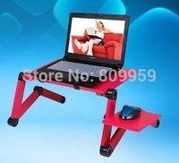 Aluminum alloy laptop mount bed computer desk computer rack bed with fan computer desk