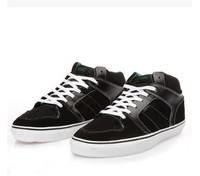 Plus size 46 Black Skateboard Shoes For Men Nubuck Genuine Leather Round toe Skateboarding Shoes