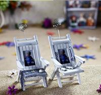Mediterranean-style Wooden chair mini Beach Chair Frame NameCard/phone Holder Household Ornaments Home Decoration