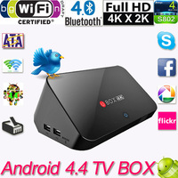 Android 4.4 TV Box Quad Core Mini PC Streaming Media Player XBMC TV Receiver  Miracast DLNA Airplay Set Top Box