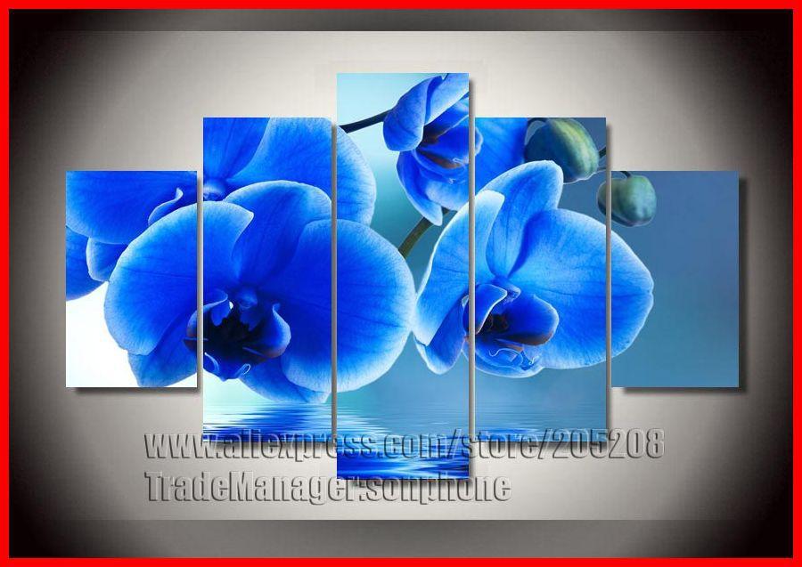 ... Abstrak-Gambar-Blue-Dinding-untuk-Ruang-Tamu-Dekorasi-Bunga-kanvas.jpg