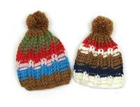 Children's color line explosion models thick stripe lines baby winter hat