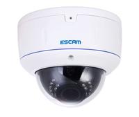 ESCAM 2.0 MegaPixel ONVIF TI 1080P HD WaterProof  & Vandal-Proof IR Network Dome Camera H.264 MJPEG Vari-Focal Lens PoE 802.3af