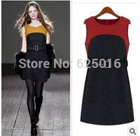 2014 new arrival autumn winter dress black Slim Bandage vestidos dresses sexy Party Bodycon Dress for women