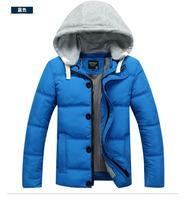 2014 Winter New Men'S Brand Jackets Men'S Fashion Thick Hooded Natural Fur Down Jacket Men Long Paragraph  90% Down Coat B40