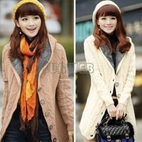 Women Fashion Autumn Winter Cardigan Long Sweater Femininas Cardigans Women's Coats Cheap Sweaters 2014 #12 CB030489