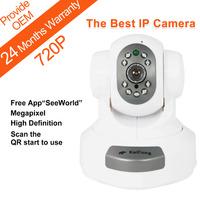 FREE SHIPPING 720P Mega pixel 1280*720 Pixels HD IP Camera WiFi Wireless TF Card Storage P2P H.264 Algorithm KaiCong Sip1303