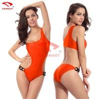 One-piece swimsuit new 2015 Adjustable waist wmone swimwear biquini vintage 4 color