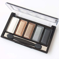 New 2014 Professional Eyeshadow 5 Colors Eye Shadow Powder Metallic Shimmer Warm Color Set Free Shipping