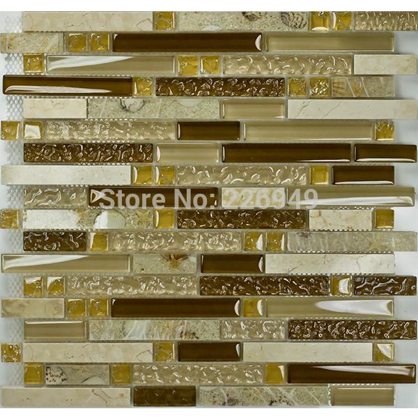 Shell cerâmica resina de vidro Browns boa parede fundo da telha de mosaico(China (Mainland))