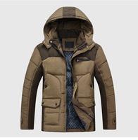 2014 Winter New Men'S Brand Jackets Men'S Fashion Thick Hooded Natural Fur Down Jacket Men Long Paragraph  90% Down Coat B42
