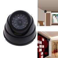 Black Dummy Fake Surveillance CCTV Security Dome Camera w/ Flashing Red LED Light   #QbO