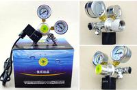 Aquarium tank planted Dual Gauge co2 system Pressure Regulator co2 gas Cylinders Pressure Regulator  with solenoid valve
