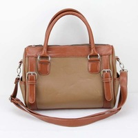 H003(brown) Synthetic Leather Handbag, Various Designs and Colors are Available,Free shipping