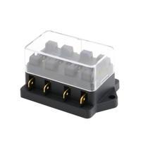1pcs 4 Way Circuit Automotive Middle-sized Blade Standard Fuse Box Block Holder