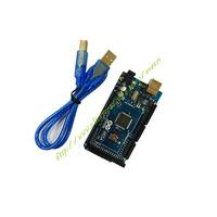 Free shipping MEGA2560 R3 ATmega2560 AVR USB board +free USB cable (ATMEGA2560 ) for Arduino 2560