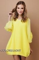 Dropshipping!2014 Autumn women dress lace loose Knitting dress plus size dress