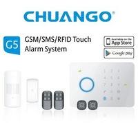 Chuango CG-G5 50 Zones RFID Touch Keypad GSM Phone SMS Wireless Home Security Burglar intelligent Alarm System G5 (315MHZ)
