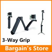 Gopro Arm 3-Way Grip Tripods For Gopro Hero 4 3+ 3 SJ4000 Camera Accessories