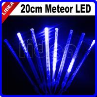 20cm Tube New Year Garland Blue Tubes LED String Meteor Shower Rain Fairy Lights Outdoor Christmas Decoration CN C-26B