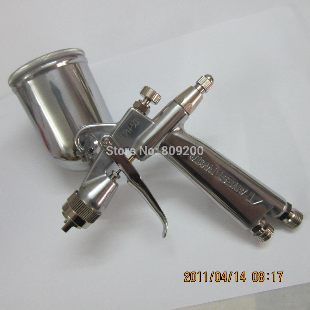 LPH-50-102G Iwata Japan low pressure spray gus(car repair spray gun) LPH50 anest iwata ainting gun, with cup,1.0mm nozzle(China (Mainland))