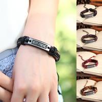 Free Shipping 12pcs/Lot Leather bracelet Handmade Fashion Maxim Best Friend charm Bracelet China P0047